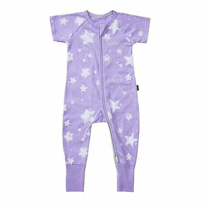 Bonds Baby Short Sleeve Zip Wondersuit Zippy Stars Violet Size 0000 000 00 0 1 2