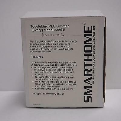 Smarthome Insteon ToggleLinc PLC Dimmer #238941 - Ivory. New in box