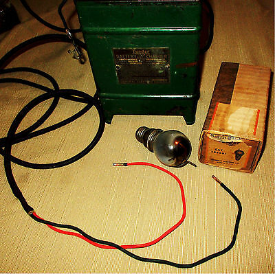 Vintage WORKING 1921 GE TUNGAR BULB BATTERY CHARGER Model T ERA Steampunk
