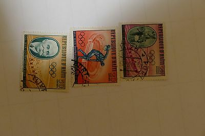 3 x Haiti old stamps ( mail postage postal philately vintage) South America