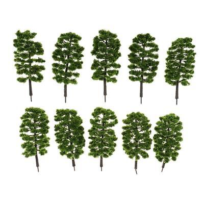 10pcs Model Trees Train Railroad Diorama Wargame Park Scenery HO OO N 1:65 #E