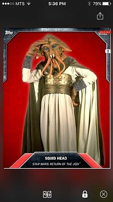 Topps Star Wars Digital Card Trader Red Cloth Squid Head Base Variant