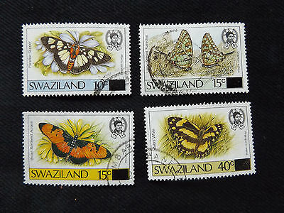 Swaziland:  1990 Surcharged Butterflies 15c Surcharge on 45c good used