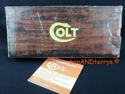 "Colt Single Acton Army .44 7 1/2"" Wood Grain SAA Box with Manual"
