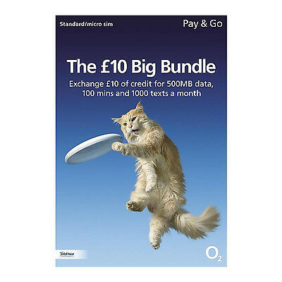 O2 PAYG £10 Big Bundle Triple Standard/Micro/Nano Sim Pack