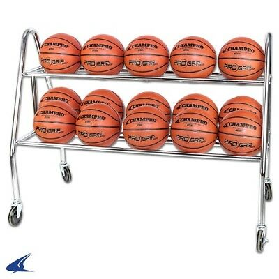CHAMPRO Prism Basketball Rack with Casters Holds 15 Balls