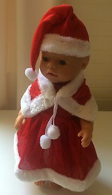 Baby Born, American Girl, Our Generation, JG, Christmas dress, hat and cape