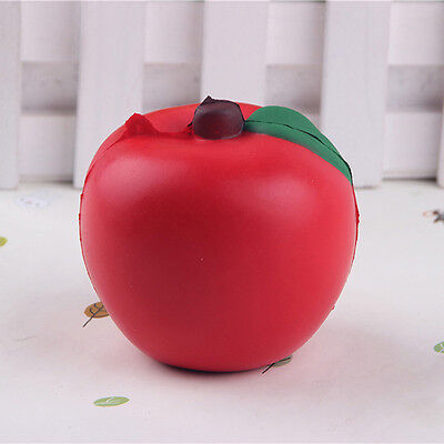 Jumbo Apple Squishy Super Slow Rising Scented Fruit Toys Bag Strap Keychain