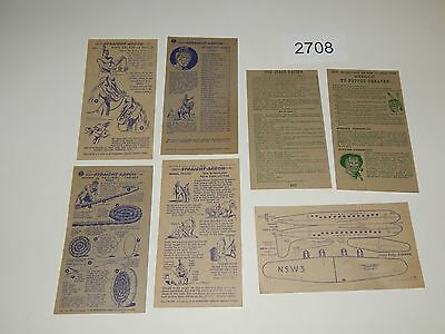 Vintage Collectibles LOT OF 8 Cards STRAIGHT ARROW NABISCO VINTAGE 2708