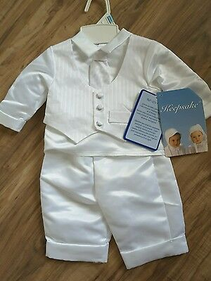 Boys Christening Baptism Outfit Formal Wedding Keepsake Suit 6-9M NWT