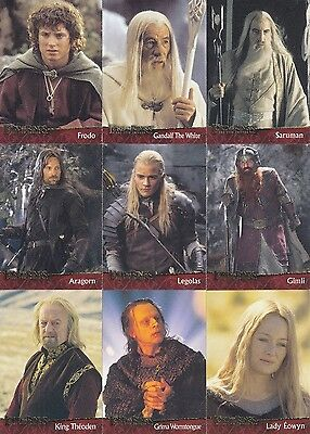 Lord Of The Rings The Two Towers 2002 Movie Topps Base Card Set Of 90