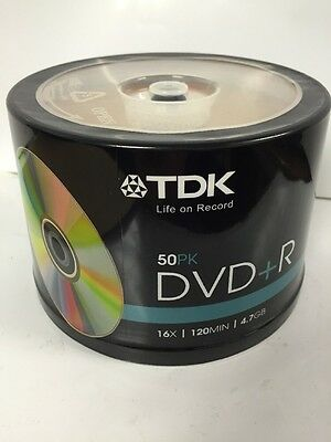 10 Discs TDK 16X DVD+R Gold Colour 4.7GB 120MIN With 10 Paper Sleeves