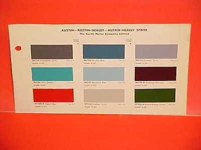 1963 1964 Austin Healey Sprite Mk Ii Iii A-60 Cambridge Mini Cooper Paint Chips