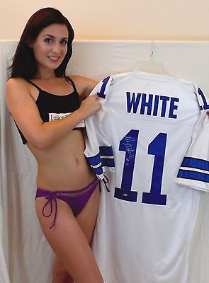 Danny White Signed White Custom Jersey - Dallas Cowboys - Direct From His Agent
