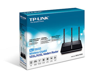 TP-Link Archer VR900 AC1900 Dual Band WiFi Wireless Gigabit ADSL2+ Modem Router
