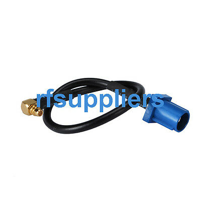 """Fakra C male to MMCX male right angle RF pigtail Cable RG174 6"""" for GSM antenna"""