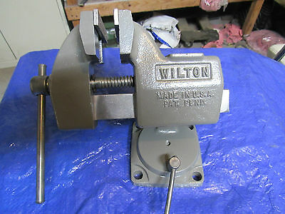 "Vintage Wilton 4"" Bench Top Swivel Tilt Machinist Vise  Model #121091"