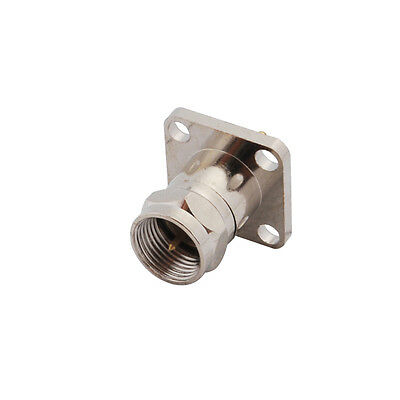F male plug RF coaxial connector with flange 4 Hole straight connector
