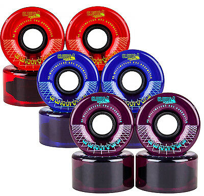 CLOUDS URETHANE Wheels Quantum Outdoor Roller Skate Wheels 62mm, 80a  set of 4