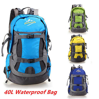 40L Waterproof Nylon Outdoor Backpack Hiking Camping Travel Pack Mountaineering