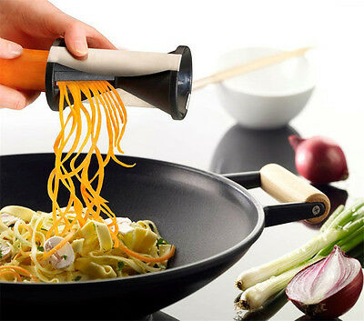 New Vegetable Spiral Slicer Fruit Cutter Peeler Spiralizer Twister Kitchen Tool_