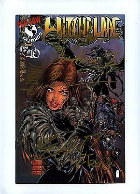 Witchblade #10 - Top Cow 1996 - 1st App The Darkness - Signed by Creators - VFN