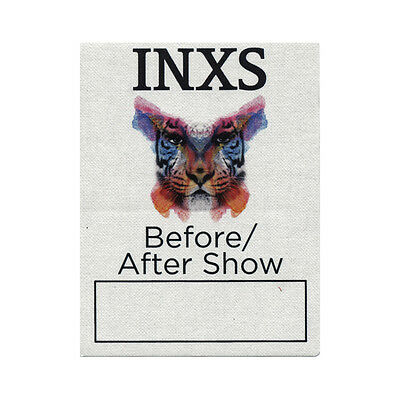 INXS authentic Aftershow 2011 tour Backstage Pass