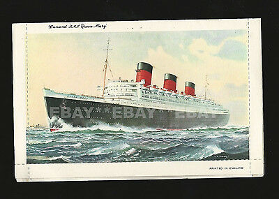 Vintage RMS Queen Mary Postcard