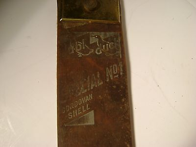Vintage Dubl Duck Special No1 Cordovan Shell Leather Razor Sharpening Strop