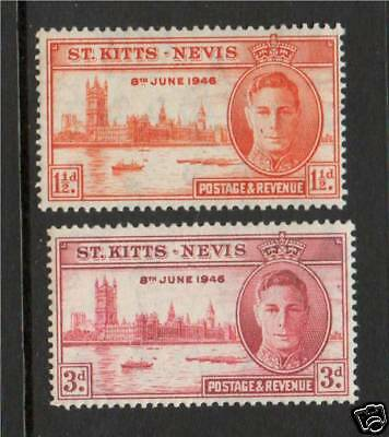 St Kitts & Nevis 1946 Victory SG 78/9 MNH