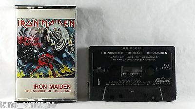 Iron Maiden - The Number Of The Beast (Cassette, 1982) Heavy Metal, Invaders