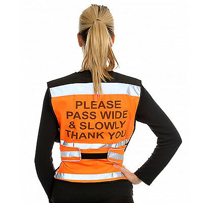 Equisafety Air Waistcoat Please Pass Wide & Slow XL