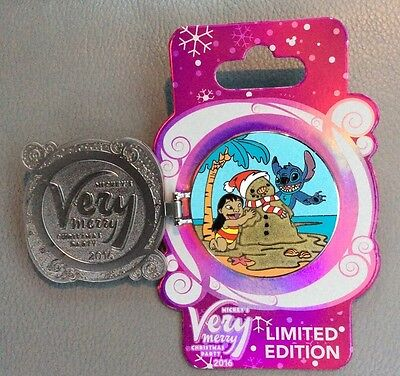 Disney Pin Mickey's Very Merry Christmas Party 2016 Lilo And Stitch Pin New LE