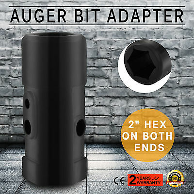 """Drill Auger Adapter 2"""" On Both Ends Skid Steer Au Stock Machinery Parts Popular"""