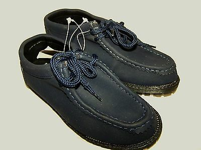 Boys Adams Navy Blue Lace Up Shoes Size 2 (34) BRAND NEW In Polybag