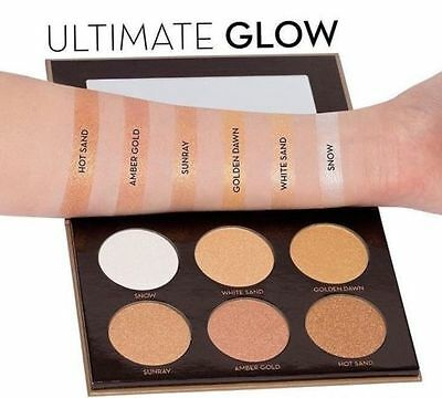 Ultimate Glow Kit Highlighter Limited Edition  Make Up Metalic Shade Palette UK