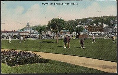 Golf, Putting Green, Rothesay, Buteshire, Scotland.