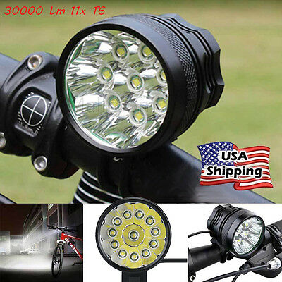 30000 Lm 11x  T6 LED 3 Modes Bicycle Lamp Bike Light Headlight Cycling Torch