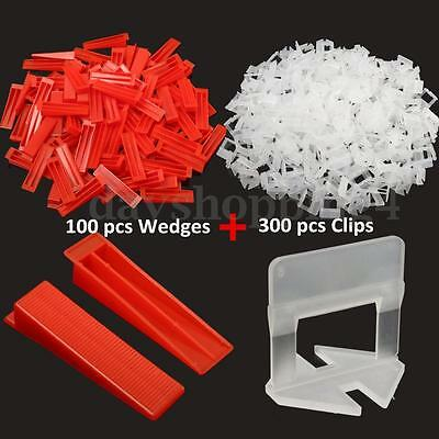 400x Tile Leveling Spacer System Tool & Wedges& Pliers Tool Tiling Flooring Set