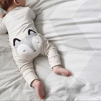 Baby Toddler Boys Girls Cotton Animal Leggings Harem PP Pants Bottoms 4-24Months