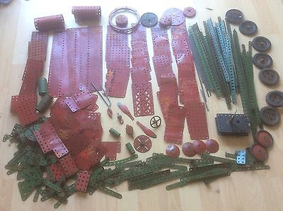 Meccano Large Bundle of Original Early (Red & Green 1950's) 12Kg