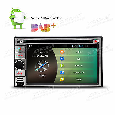 Android 6.0 Double Din Car Stereo Radio GPS Wifi 3G OBD2 HD Mirror Link BT DVD