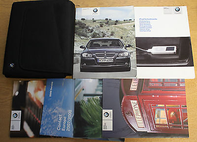 Bmw 3 Saloon E90 Touring E91 Handbook Owners Manual Wallet 2005–2008 Pack 13062