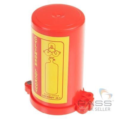 Gas Cylinder Lockout Fits 35mm Stem - Red