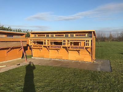18 x 6ft Pigeon Loft With Dowelled Box Front