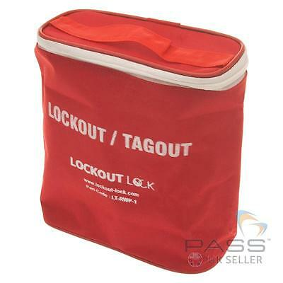 Large Red and White Lockout Tagout Pouch