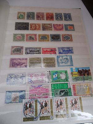 Guatemala used selection 36 stamps