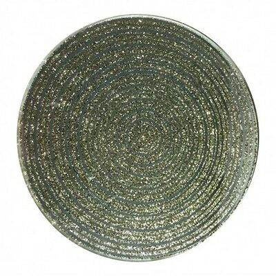 10cm Candle Plate - Gold Glitter - Silver Mirror Gem Glass Coaster Table