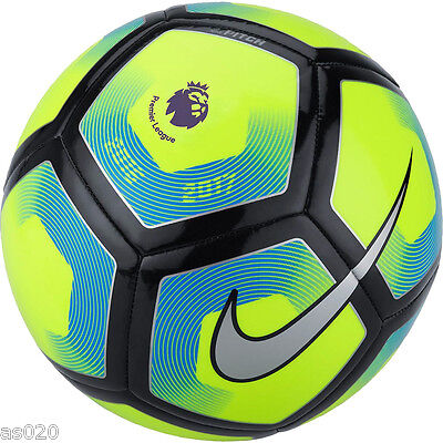 NEW Nike Pitch 2016/17 Premier League Football Ball - Volt Yellow - Size 3 4 5