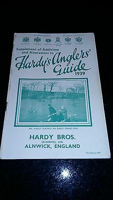 """Scarce Copy Of """"hardy's Anglers Guide-Supplement Of Additions/alterations"""" 1939"""